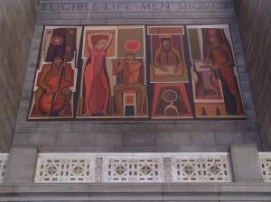 Artwork in Nebraska's capitol.