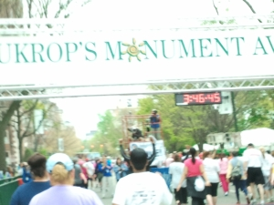 10K finish line
