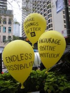 Yellow balloons