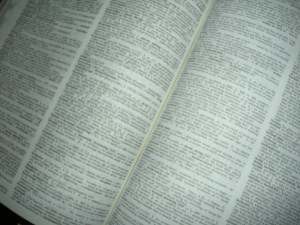 Pages of dictionary