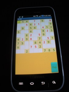 Smartphones are frequently used for playing games, including Sudoku.