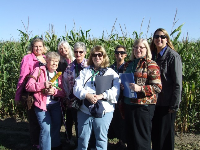 Virginia Press Women learn about farming in Nebraska.
