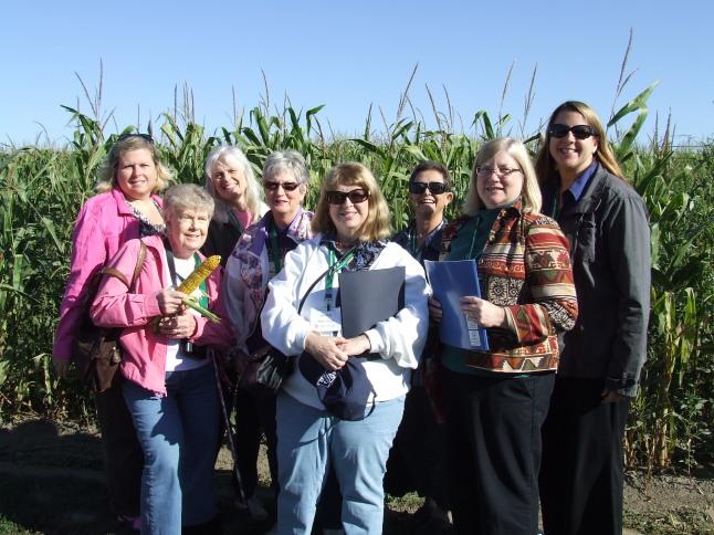 Virginia Press Women learn about farming in Nebraska.